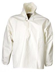 ELKA víz- és vegyszerálló kapucnis PU kabát fehér