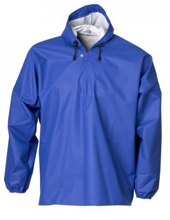 ELKA víz- és vegyszerálló kapucnis PU kabát kék
