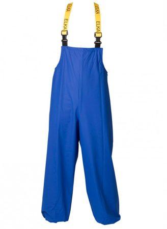 ELKA víz- és vegyszerálló kantáros PU nadrág kék