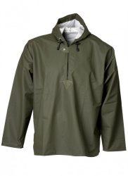 ELKA víz- és vegyszerálló kapucnis PU kabát zöld
