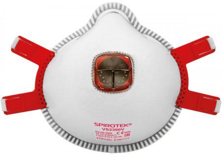SPIROTEK VS2300V FFP3 szelepes szűrőfélálarc