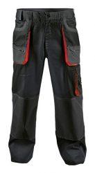 FF CARL munkanadrág fekete/piros színű