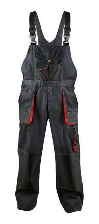 FF CARL kantáros nadrág fekete/piros színű