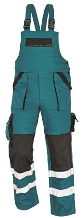 MAX REFLEX kantáros nadrág zöld/fekete